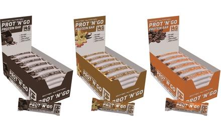 Fino a 72 barrette proteiche Scitec Nutrition da 45 g disponibili in 3 gusti