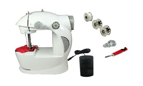 Máquina de coser portátil con sistema de 7 puntadas