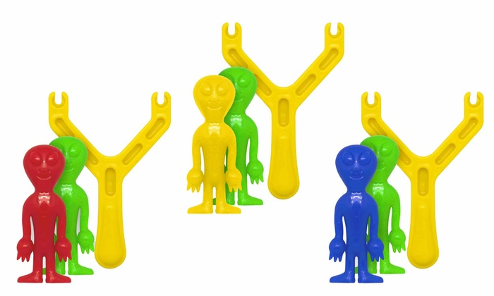 Sticky Two Alien Sling Catapult Toy (3-Pack)