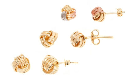 18K Gold-Plated Love-Knot Stud Earrings from $18.99–$19.99