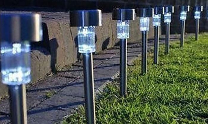 Luci da giardino a energia solare groupon