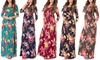 Women's Long Sleeve Fall Floral Maxi Dress. Plus Sizes Available.