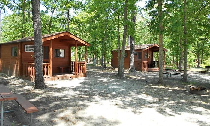 Big timber lake camping resort groupon for Cabin getaways in nj