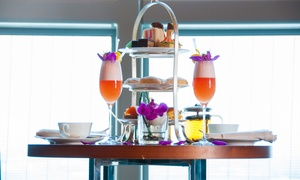 The Lounge at Hyatt Capital Gate Hotel: Skyline Afternoon Tea with Optional Sparkling Beverage for One or Two at Hyatt Capital Gate Hotel (Up to 55% Off)