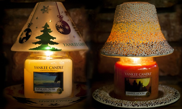 Up to 40 off yankee candle shade and dish set groupon groupon goods global gmbh yankee candle jar shade and dish set mozeypictures Gallery