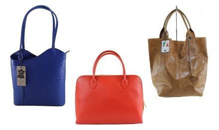 Borsa da donna Roberta Rossi in vera pelle italiana. Vari modelli disponibili da 39,99 € a 44,90 €