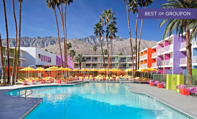 Rainbow-Colored 4-Star Palm Springs Resort