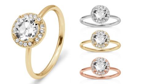 omg jewel halo-ring mit swarovski®-kristallen für damen