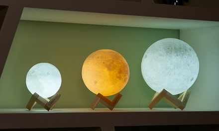 One or Two GloBrite Touch Control LED 3D Moon Lamps