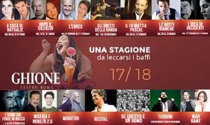 Abbonamento Teatro Ghione di Roma: Abbonamento da 3 o 4 spettacoli della stagione 2017-2018 al Teatro Ghione di Roma (sconto fino a 59%)