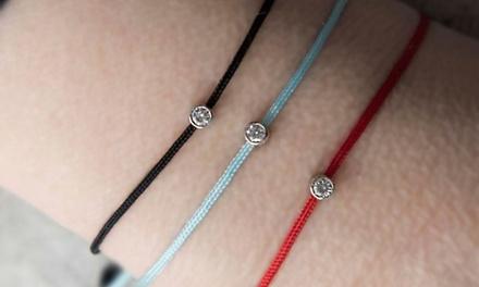 Bracelet Diamant de la marque Mazal Diamond en or 10 carats et orné dun diamant 0.06 carats, livraison offerte