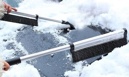 1 of 2 uitschuifbare aluminium ijskrabbers en sneeuwborstels