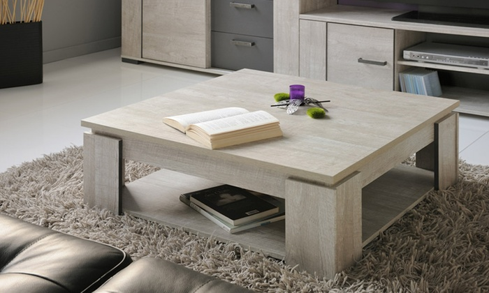 meuble tv table basse cali groupon shopping. Black Bedroom Furniture Sets. Home Design Ideas