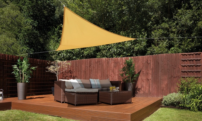 Triangle, Rectangle or Square Garden Gear Sunshade Sail Canopy with Optional Fixing Kit