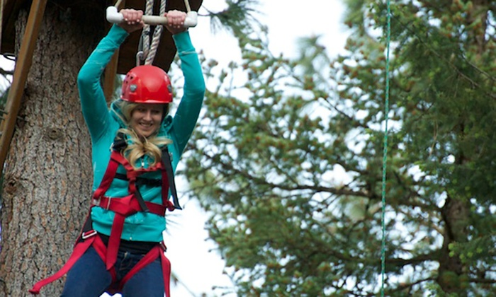 Adventure Dynamics Inc. - Nine Mile Falls: Aerial Adventure with Zipline, Giant Swing, Quick Jump and more at Adventure Dynamics Inc. (Up to 50% Off)