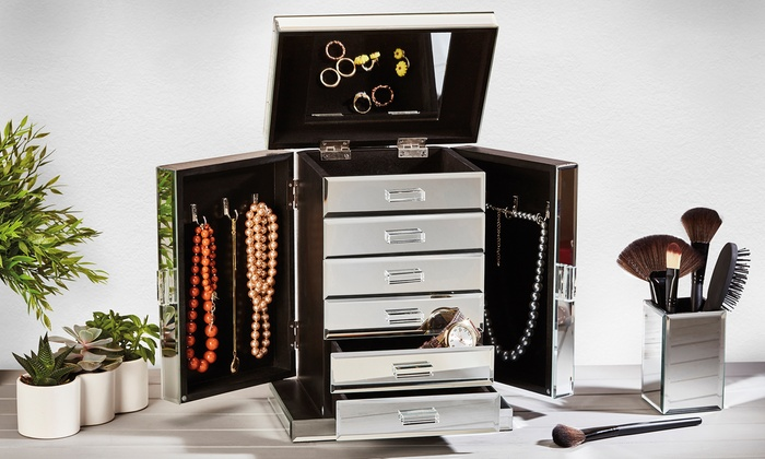 Large Mirrored Jewellery Box Groupon Goods