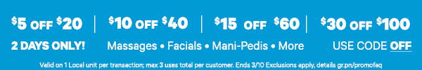 Use Code�OFF for Up to an EXTRA $30 OFF!