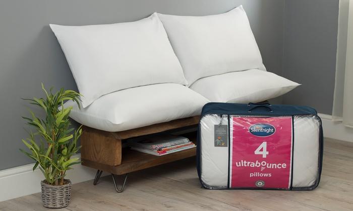 Four Silentnight Ultrabounce Pillows from £13