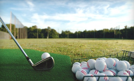 9-Hole Round of Twilight Golf and Bucket of Driving-Range Balls (a $22 value) - Santiam Golf Club in Aumsville