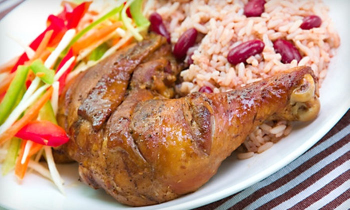Jamaican Dave's - East Hills: $12 for Authentic Jamaican Dishes for Two at Jamaican Dave's (Up to $24 Value)