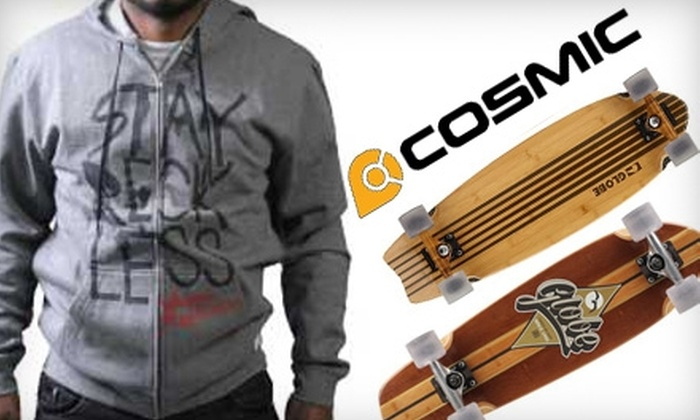 Cosmic Colors - Multiple Locations: $25 for $50 Worth of Skateboard Supplies and Clothes at Cosmic Colors