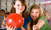 Ryan Family Amusements - Multiple Locations: Bowling for Four with Shoe Rental Plus 40 Game Tokens at Ryan Family Amusements (Up to 53% Off)