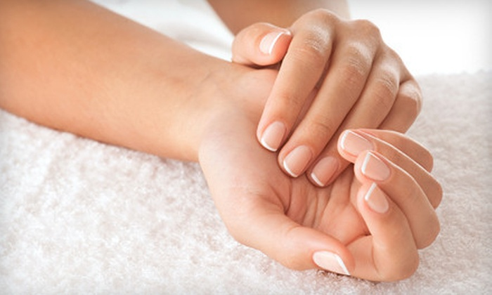 Jagged Edge Salon & Day Spa - Summerlin: One or Two 60-Minute Mani-Pedis with Complimentary Champagne at Jagged Edge Salon & Day Spa (Up to 61% Off)