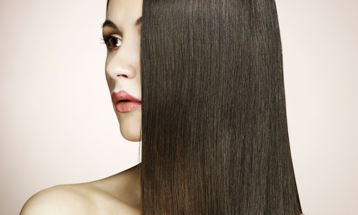 The Glam Box Salon - Redlands: Brazilian Blowout with Optional Haircut at The Glam Box Salon (Up to 65% Off)