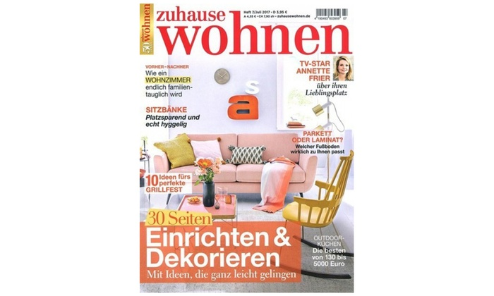 zuhause wohnen halbjahres abo groupon goods. Black Bedroom Furniture Sets. Home Design Ideas