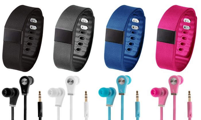 Aquarius Bluetooth Fitness and Activity Tracker with XS40 Earbuds from £9.12