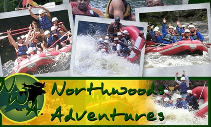 Northwood's Adventures - Niagara: $25 for Menominee River Half-Day Rafting Adventure from Northwood's Adventures in Niagara, Wisconsin