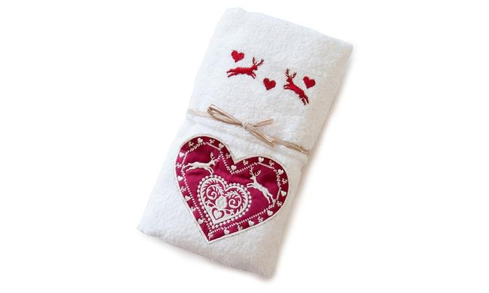 b604e17527 Coppia asciugamani con ricamo | Groupon Goods