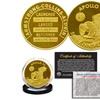 Apollo 11 50th Anniversary Robbins Tribute Coin Clad in 24K Gold