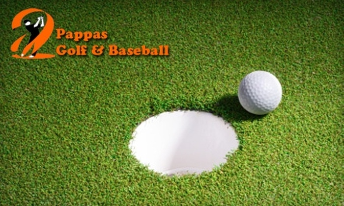 Pappas Indoor Golf & Baseball - Chelmsford: Golf Practice Facility Passes, Golf Simulator, or Batting Cages at Pappas Indoor Golf & Baseball in North Chelmsford (Up to $75 Value). Choose from Three Options.