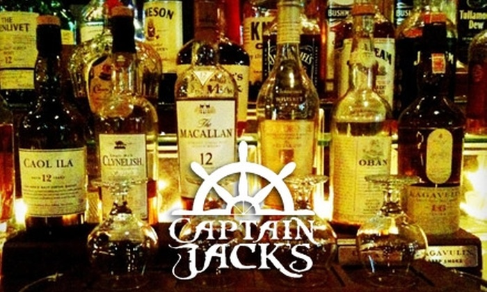 Captain Jacks - Downtown: $12 for Liquor Tasting, Mixed Drink, and 12-Inch Pizza at Captain Jacks