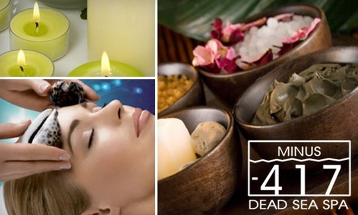 Minus 417 Dead Sea Spa - Richmond Hill: $69 for an Ultimate Oasis Retreat Package and a 30-Minute Warming Mineral Massage at Minus -417 Dead Sea Spa ($292 Value)