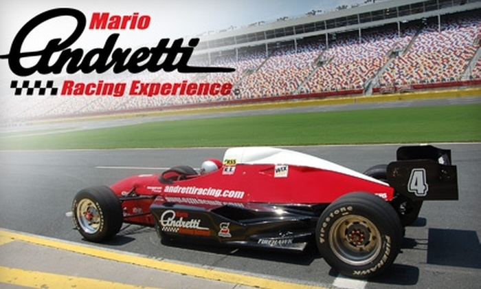 Mario Andretti Racing Experience - Clark: $77 for the Ride Along Experience (Up to $154.99 Value) or $182 for the Three-Hour Practice Drive Experience (Up to $389.99 Value) from Mario Andretti Racing Experience at Las Vegas Motor Speedway