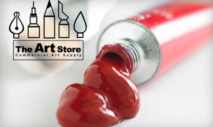 The Art Store - Eastside: $50 for $100 Worth of Custom Framing or $10 for $25 Worth of Canvas and Brushes at The Art Store