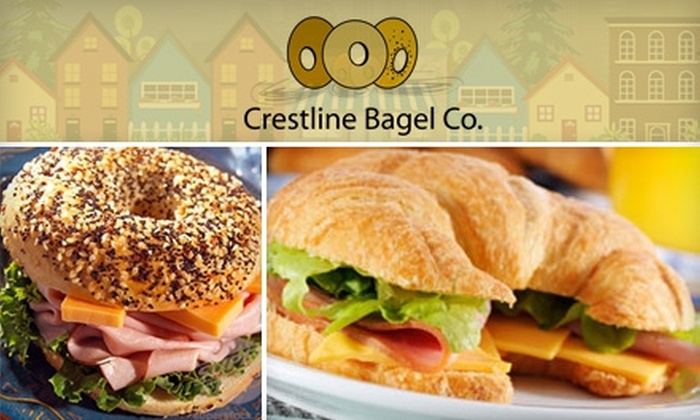 Crestline Bagel Company - Mountain Brook: $6 for $12 Worth of Bagels, Sandwiches, Sweets, and More at Crestline Bagel Company