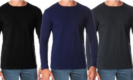 Pack de 5 camisetas de manga larga Orlando con cuello redondo