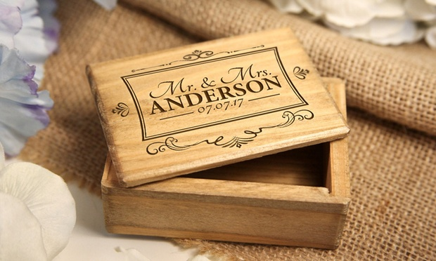 From $6.95 for Personalised Engraved Wooden Jewellery Boxes (Dont Pay up to $96.57)