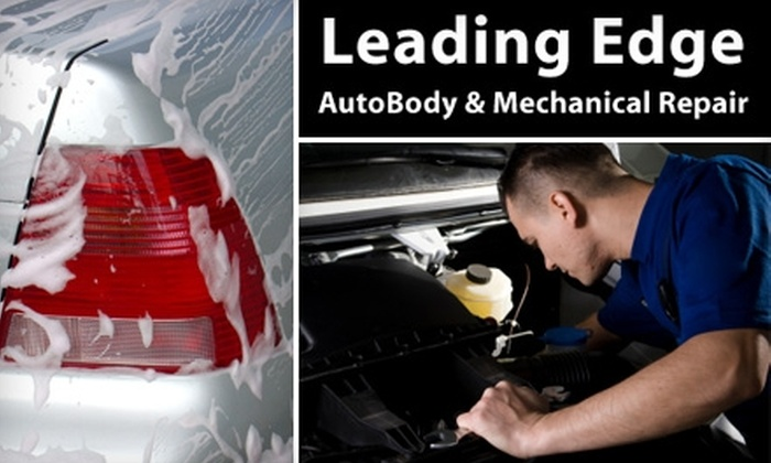 Leading Edge - New North Roland Park - Poplar Hill: $36 for an Oil and Filter Change, Tire Rotation, and Car Wash at Leading Edge ($78 Value)