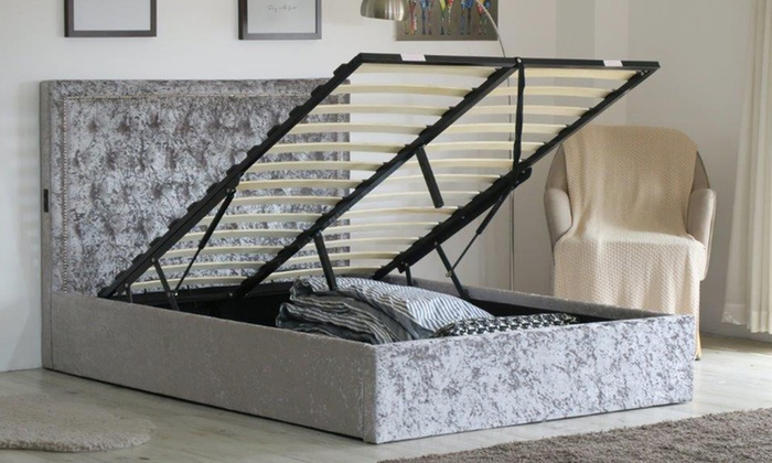Upholstered Ottoman Bed Frame with Optional Tobe Mattress
