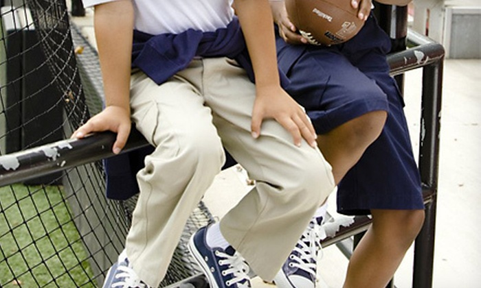 Two-Pack of Boys Pants or Shorts in Navy or Khaki (Up to 59% Off). Multiple Sizes Available.