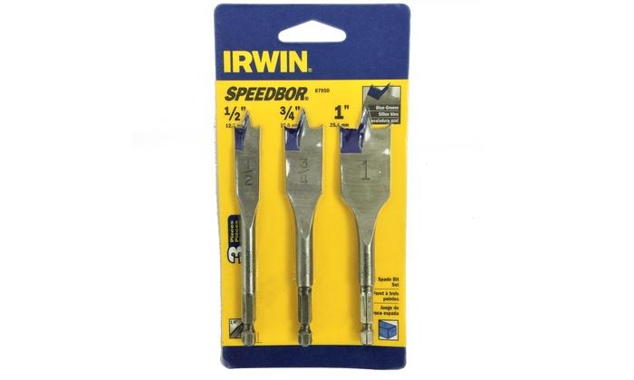 Irwin Speedbor Blue Groove Spade Drill Bit Set (3-Piece)