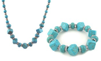 Turquoise Bracelet and Necklace