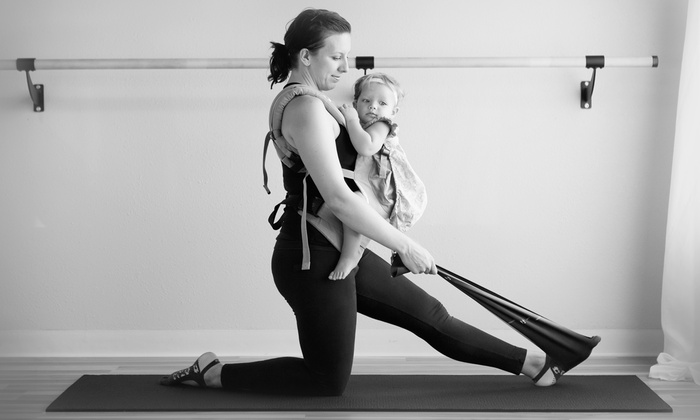 Babywearing Barre/Baby Bump Ballet - Multiple Locations: 4 or 8 Barre and Ballet Classes at Babywearing Barre/Baby Bump Ballet (Up to 40% Off)