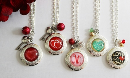 One or Two Personalized My Special Valentine Lockets from KraftyChix (Up to 53% Off)