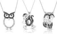 GROUPON: Black and White Diamond Animal Pendants Black and White Diamond Animal Pendants