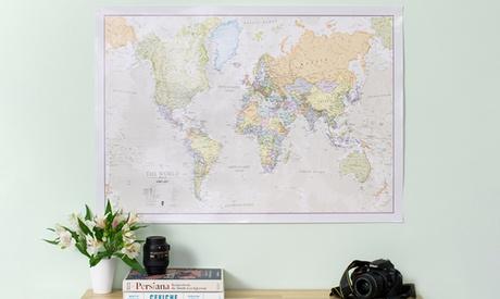 1 of 2 wereldkaart-posters